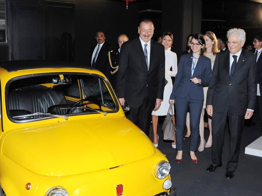 Президенты Азербайджана и Италии посетили выставку, посвященную Шаху Исмаилу Хатаи - ФОТО