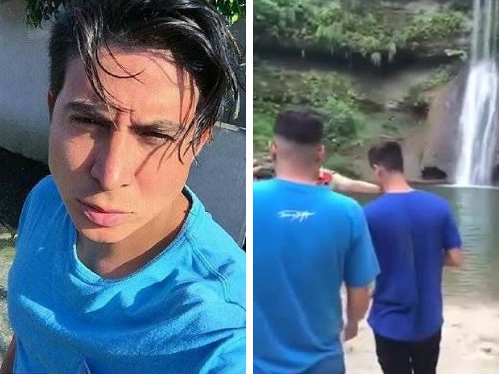 Смертельное падение туриста с водопада попало на камеру во время съёмок клипа - ВИДЕО