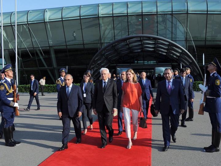 Завершился официальный визит Президента Италии в Азербайджан - ФОТО