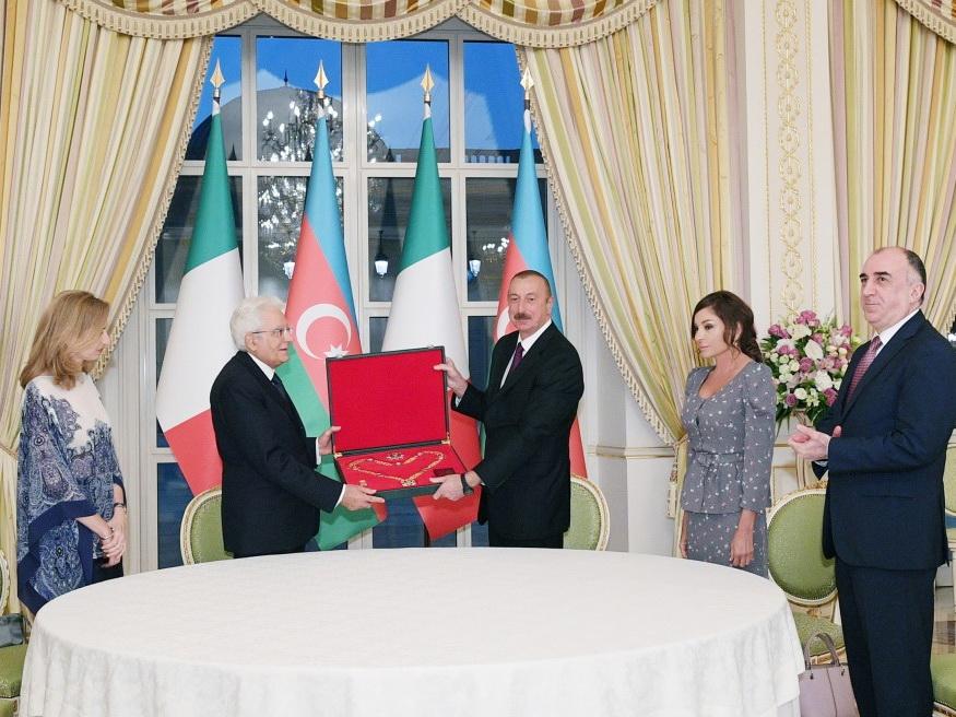 В рамках официального визита Президента Италии в Азербайджан состоялась церемония награждения – ФОТО