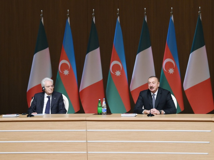 Президенты Азербайджана и Италии приняли участие в бизнес-форуме - ФОТО