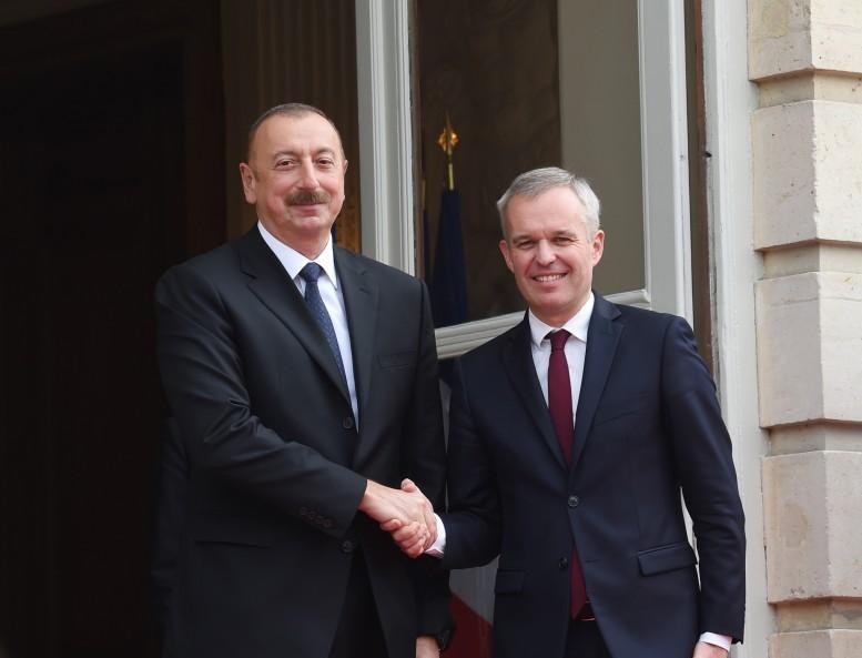 İlham Əliyevin Fransa Milli Assambleyasınınsədri Fransua de Rüji ilə görüşüb - FOTO