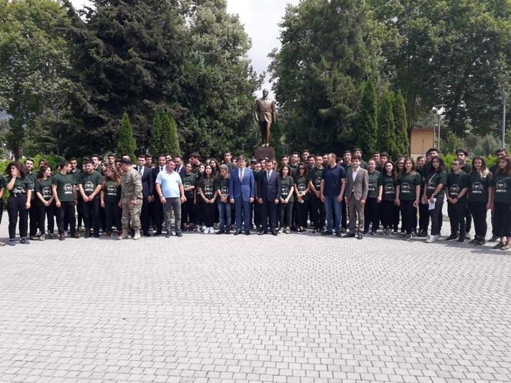 В Габале стартовал военно-патриотический лагерь - ФОТО