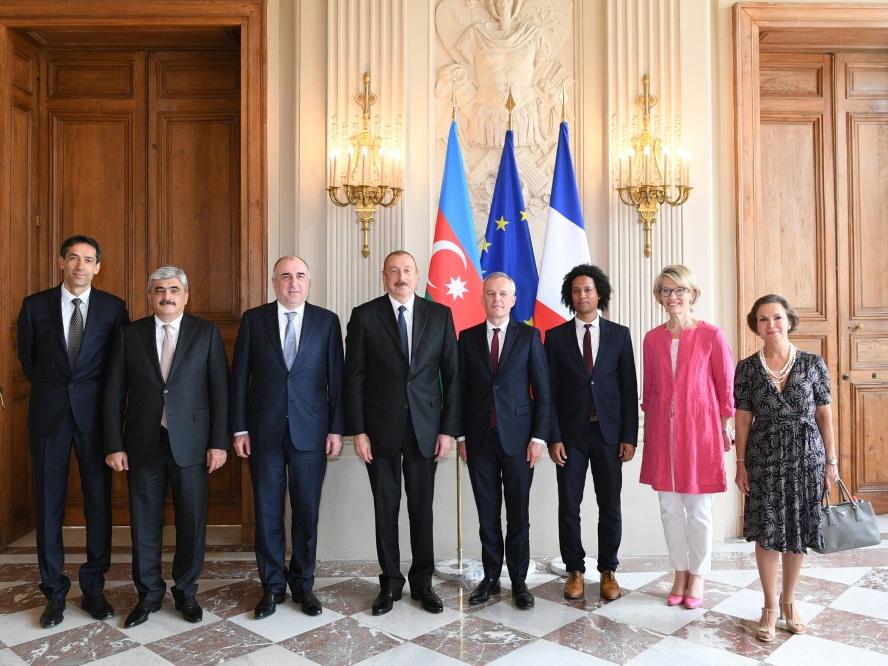 Президент Азербайджана встретился с председателем Национальной Ассамблеи Франции - ФОТО