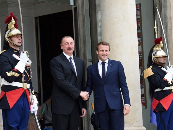 Состоялась встреча Президента Азербайджана Ильхама Алиева и Президента Франции Эммануэля Макрона - ФОТО