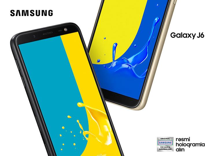 Parlaq, istifadəsi rahat – Samsung Galaxy J6