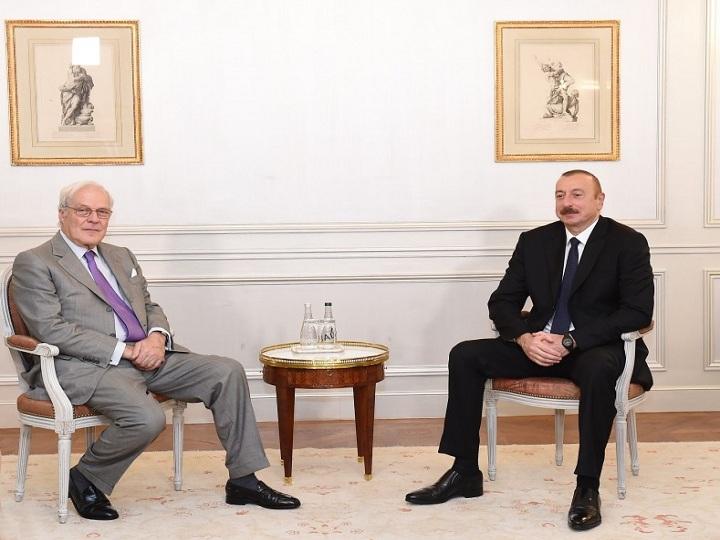 """İlham Əliyev """"Rothschild and Co"""" şirkətinin vitse-prezidenti ilə görüşüb - FOTO"""