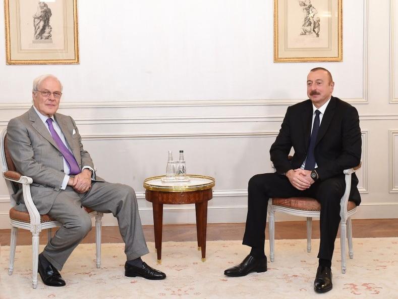 Президент Азербайджана встретился в Париже с председателем компании Rothschild and Co - ФОТО