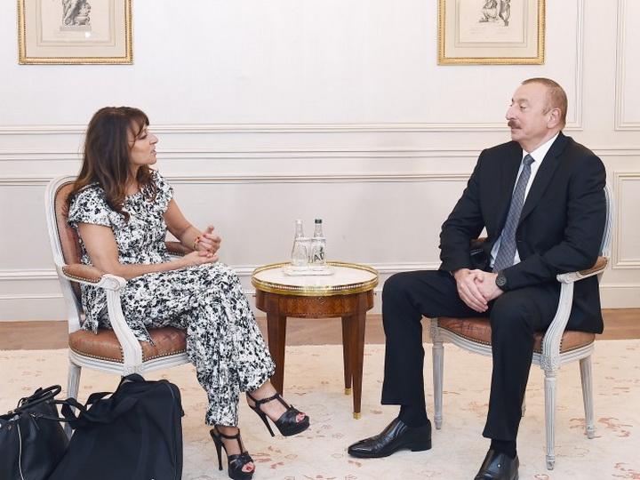 Президент Ильхам Алиев встретился с исполнительным директором компании Wilmotte & Associés Architectes - ФОТО