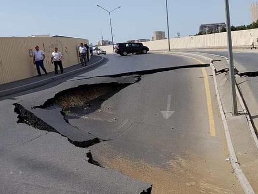 Восстановлен обрушившийся участок дороги на улице Джалила Мамедкулизаде