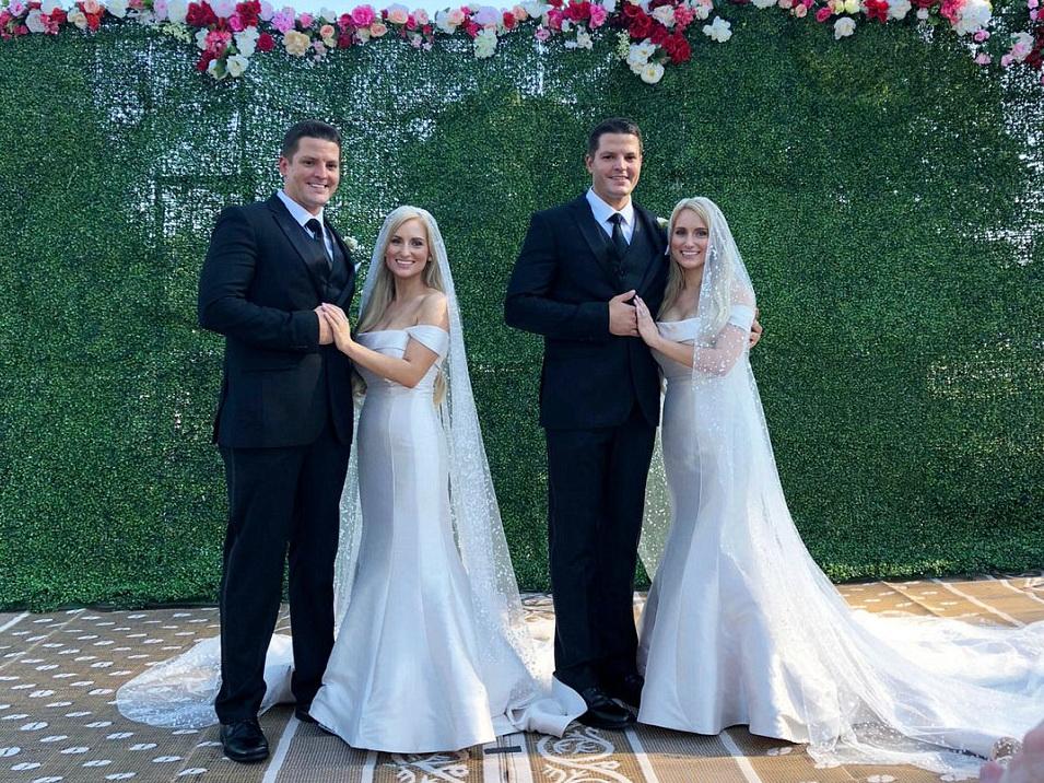 Взглянуть дважды. Сестры-близняшки вышли замуж за братьев-близнецов– ФОТО
