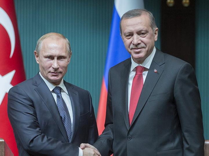 Эрдоган и Путин обсудили ситуацию в  Сирии