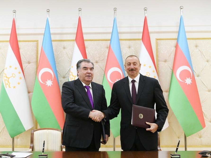 Подписаны азербайджано-таджикские документы – ФОТО