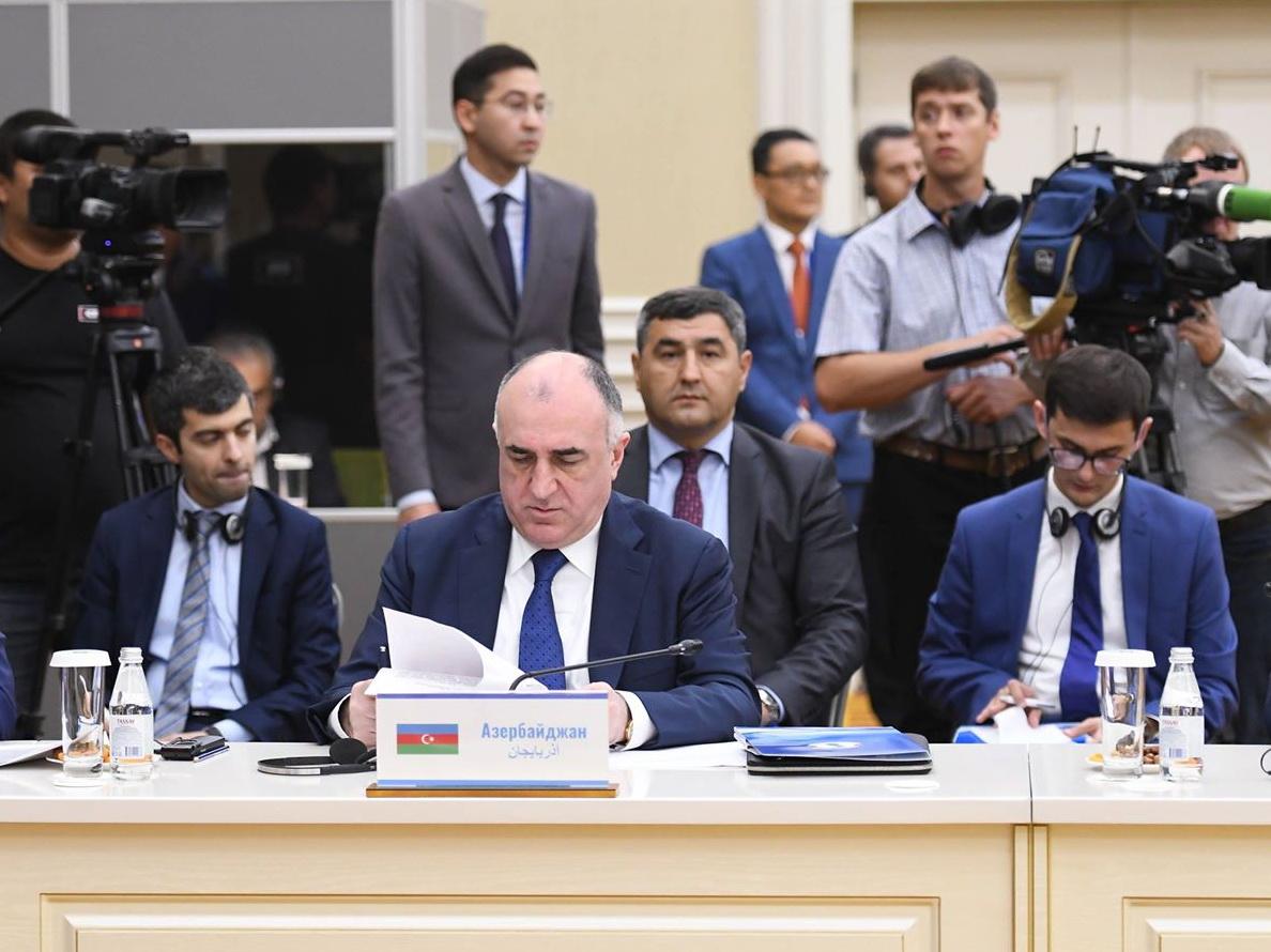 Главы МИД прикаспийских государств обсудили подготовку к Каспийскому саммиту - ФОТО