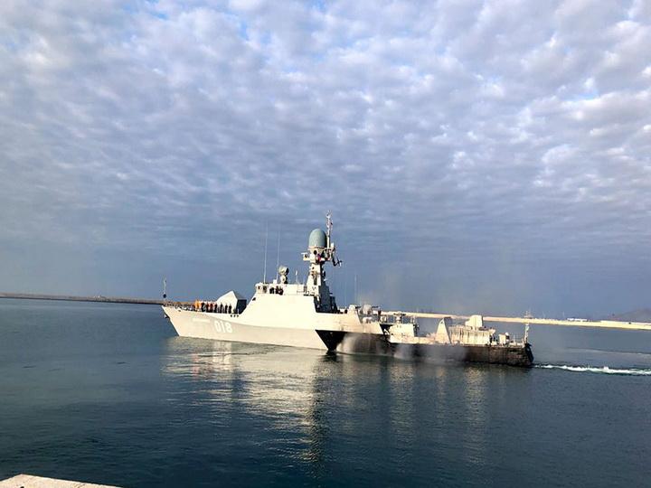 Корабли, участвовавшие в «Кубке моря-2018», покинули порт Баку - ФОТО