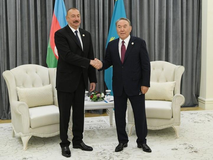 В Актау состоялась встреча Ильхама Алиева и Нурсултана Назарбаева - ФОТО