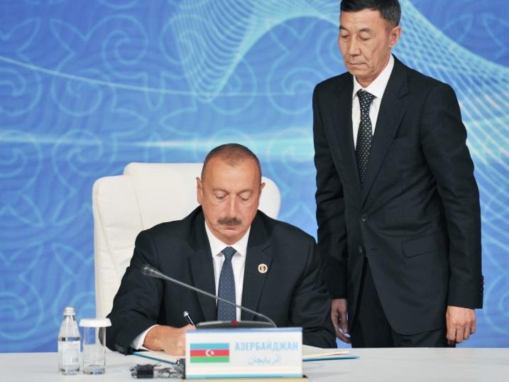 Главы прикаспийских государств подписали в Актау Конвенцию о правовом статусе Каспийского моря - ФОТО