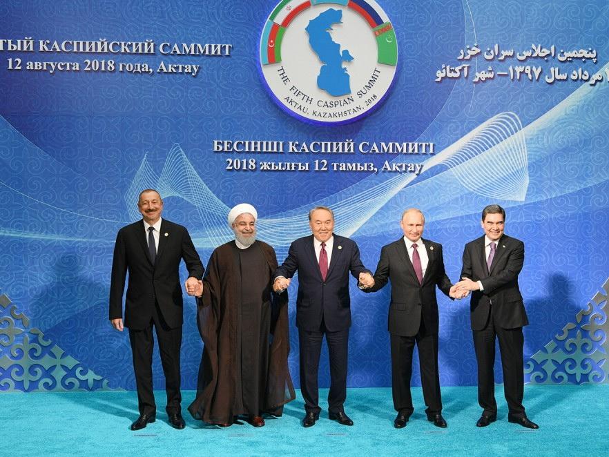 Устроен официальный прием в честь участников Актауского саммита