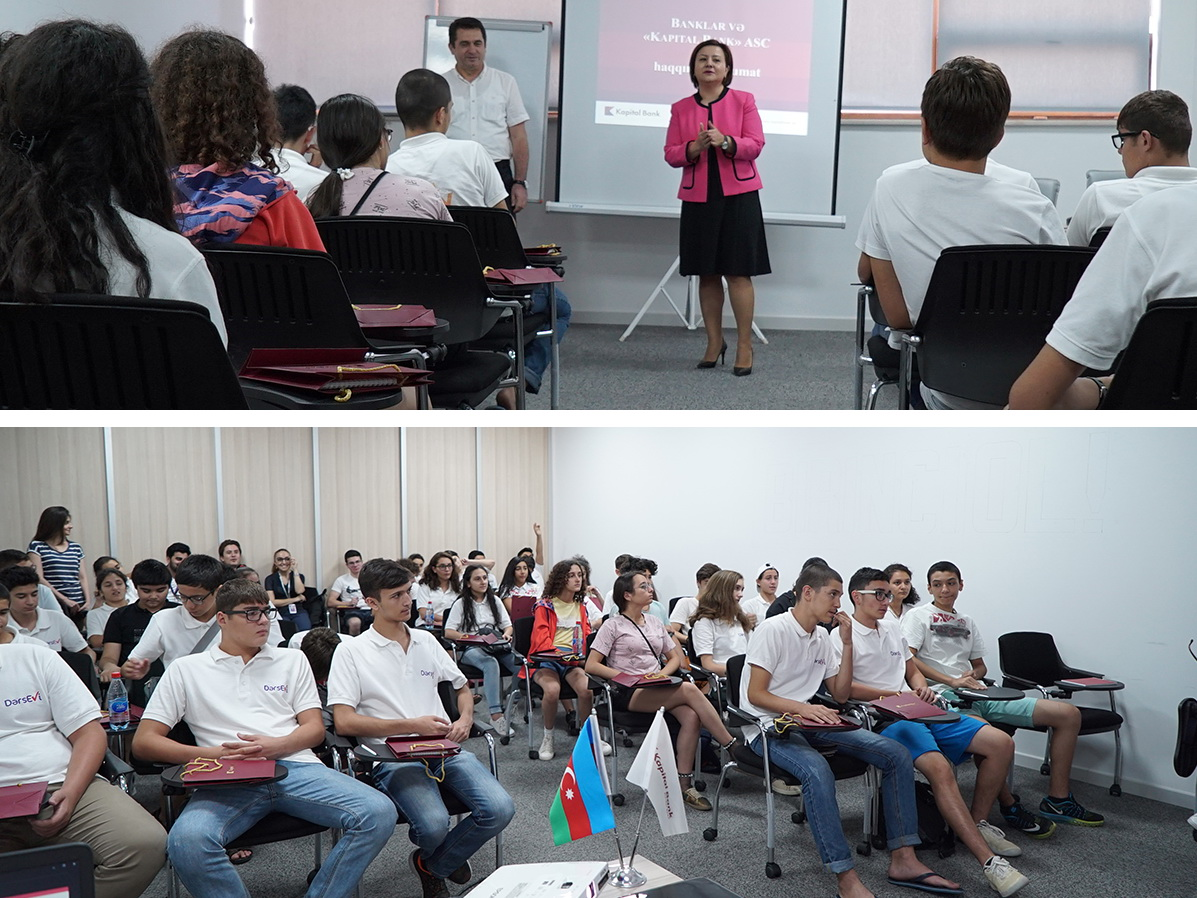 Участники летней программы Dərs evi стали гостями Kapital Bank