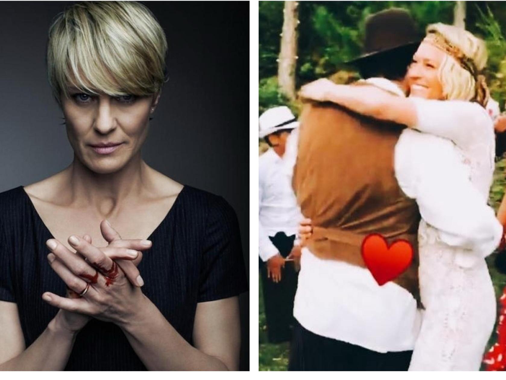 52-летняя звезда «Карточного домика» тайно вышла замуж за парня на 20 лет моложе – ФОТО