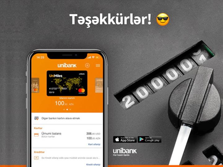 Количество пользователей Unibank Mobile превысило 200 000