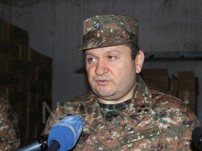 Освобожден от должности начальник по тылу ВС Армении