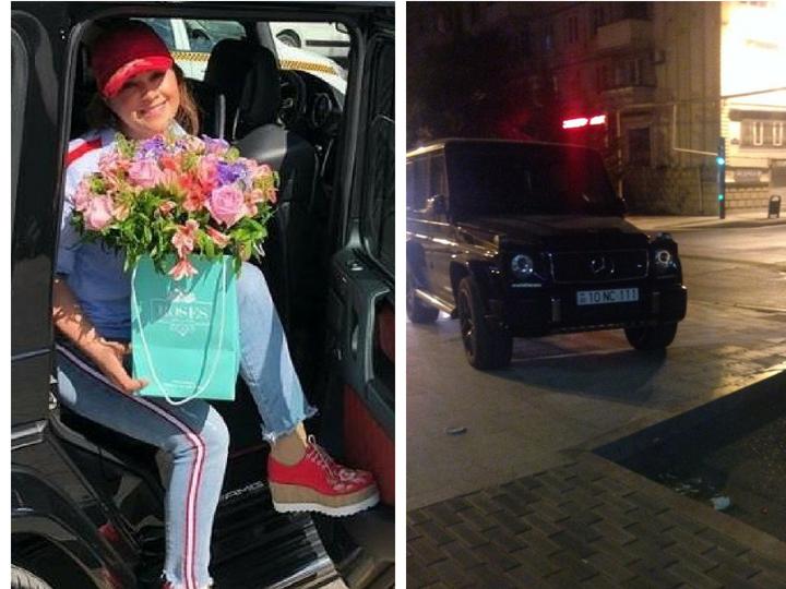 В Баку известная певица припарковала машину на тротуаре, воспользовавшись пандусом для пешеходов – ФОТО