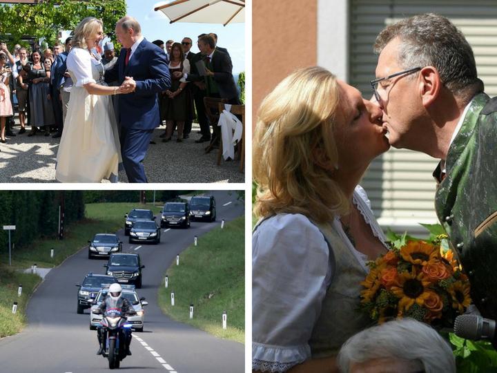 Путин станцевал с главой МИД Австрии - ФОТО - ВИДЕО