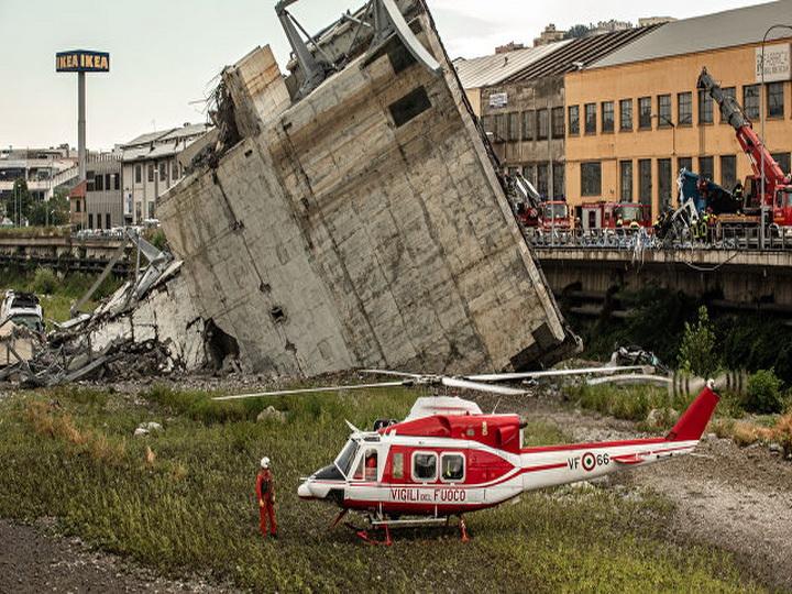 Число погибших при обрушении моста в Генуе увеличилось до 41 человека