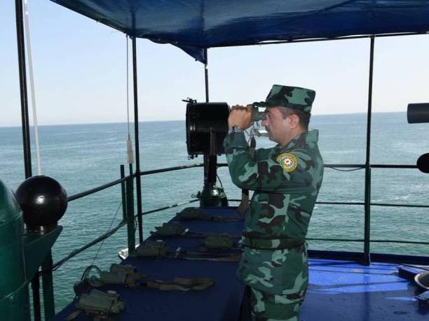 Береговая охрана Госпогранслужбы Азербайджана провела масштабные тактико-боевые учения - ФОТО