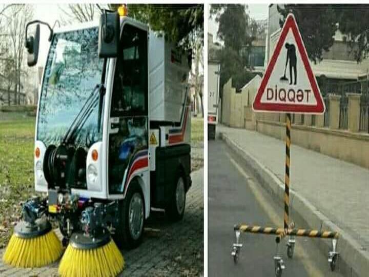 Дорожная полиция Баку выступила против новых знаков для защиты уборщиц дорог – ФОТО - ВИДЕО