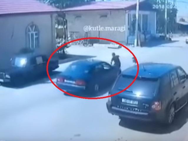 В Баку автомобиль подбросил в воздух пешехода, резко выбежавшего на дорогу – ВИДЕО