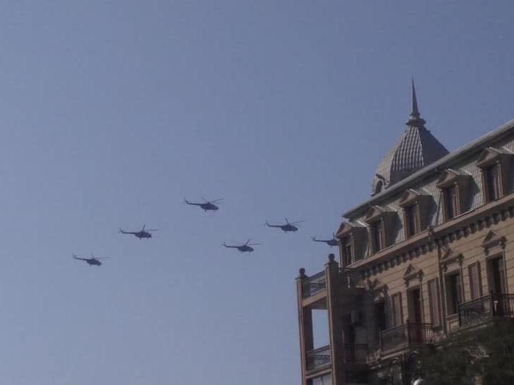 Вертолеты готовятся к историческому параду в Баку – ФОТО – ВИДЕО