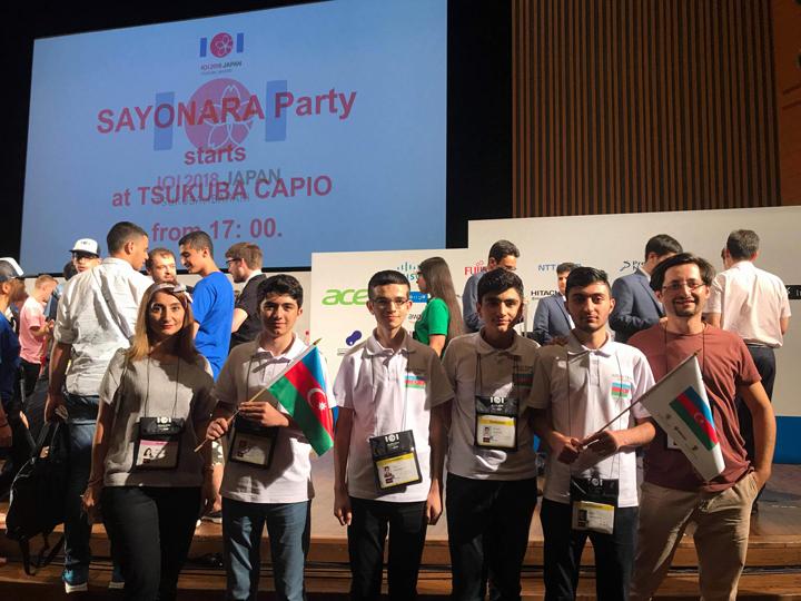 Завершилась Международная Олимпиада по информатике с участием наших учеников, которых поддержала компания Azercell