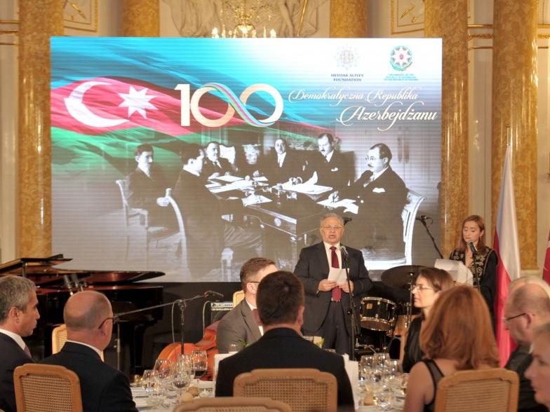 При организационной поддержке Фонда Гейдара Алиева в Варшаве отмечено 100-летие АДР - ФОТО