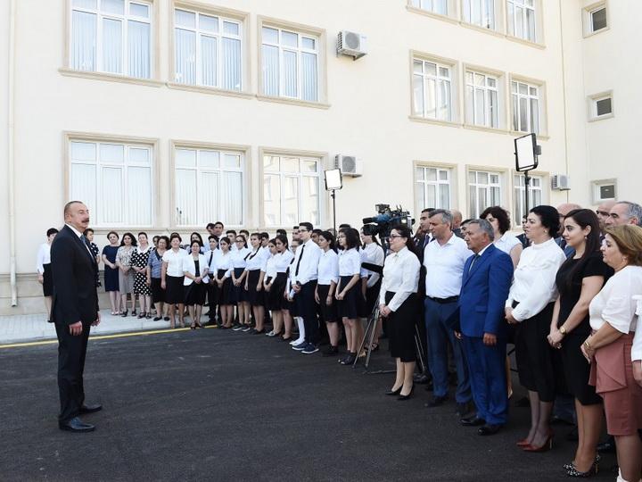 Президент Ильхам Алиев: За последние 15 лет в Азербайджане построено и капитально отремонтировано более 3 тысяч школ – ФОТО