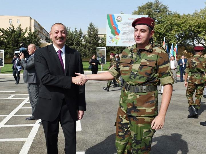 Сын Президента Ильхама Алиева начал службу в армии - ФОТО