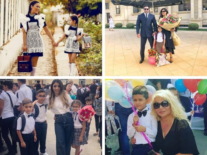 «Вот и школа началась!» - дети знаменитостей пошли в школу  – ФОТО