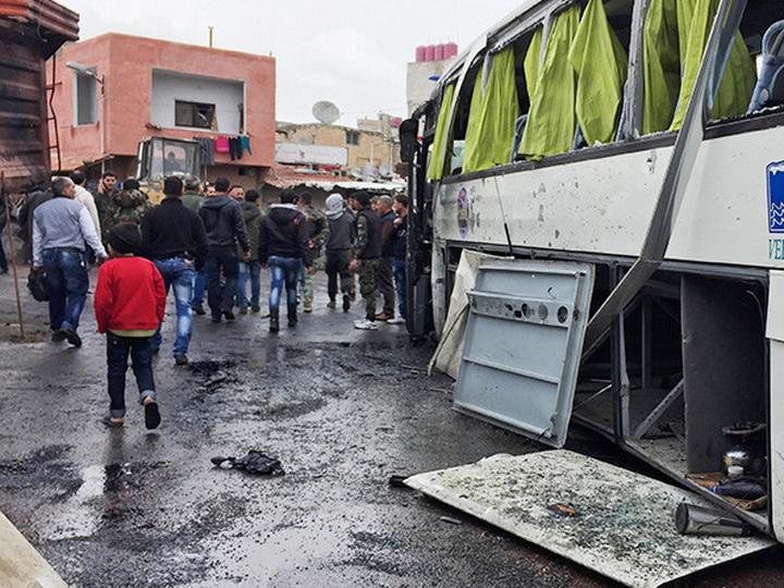 В Ираке при взрыве автобуса два человека погибли, пятнадцать пострадали