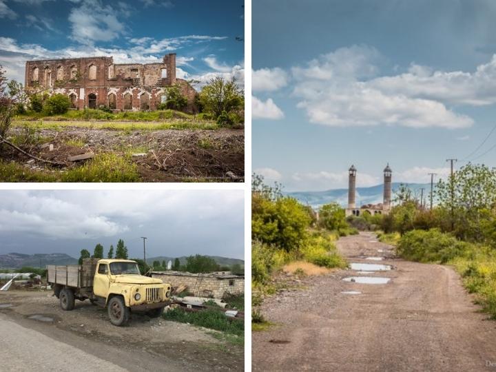 Город-призрак: Российский блогер опубликовал новые снимки разрушенного Агдама - ФОТО