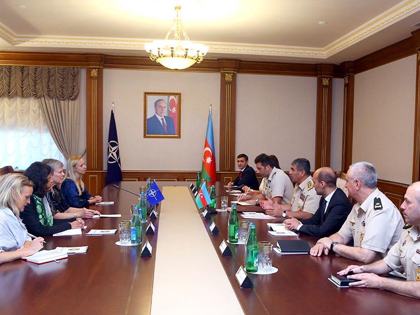 Закир Гасанов встретился с заместителем генерального секретаря НАТО – ФОТО