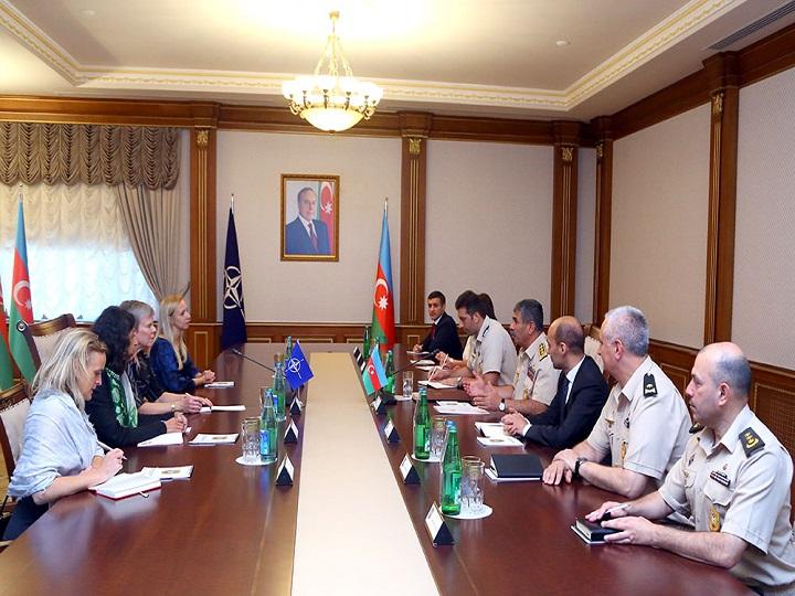 Zakir Həsənov NATO baş katibinin müavini ilə görüşüb - FOTO