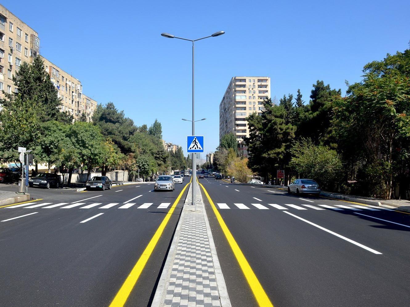 После ремонта открыта одна из оживленных улиц Баку - ФОТО – ВИДЕО
