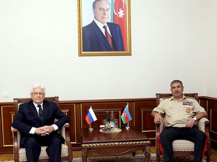 Министр обороны встретился с новым послом России в Азербайджане