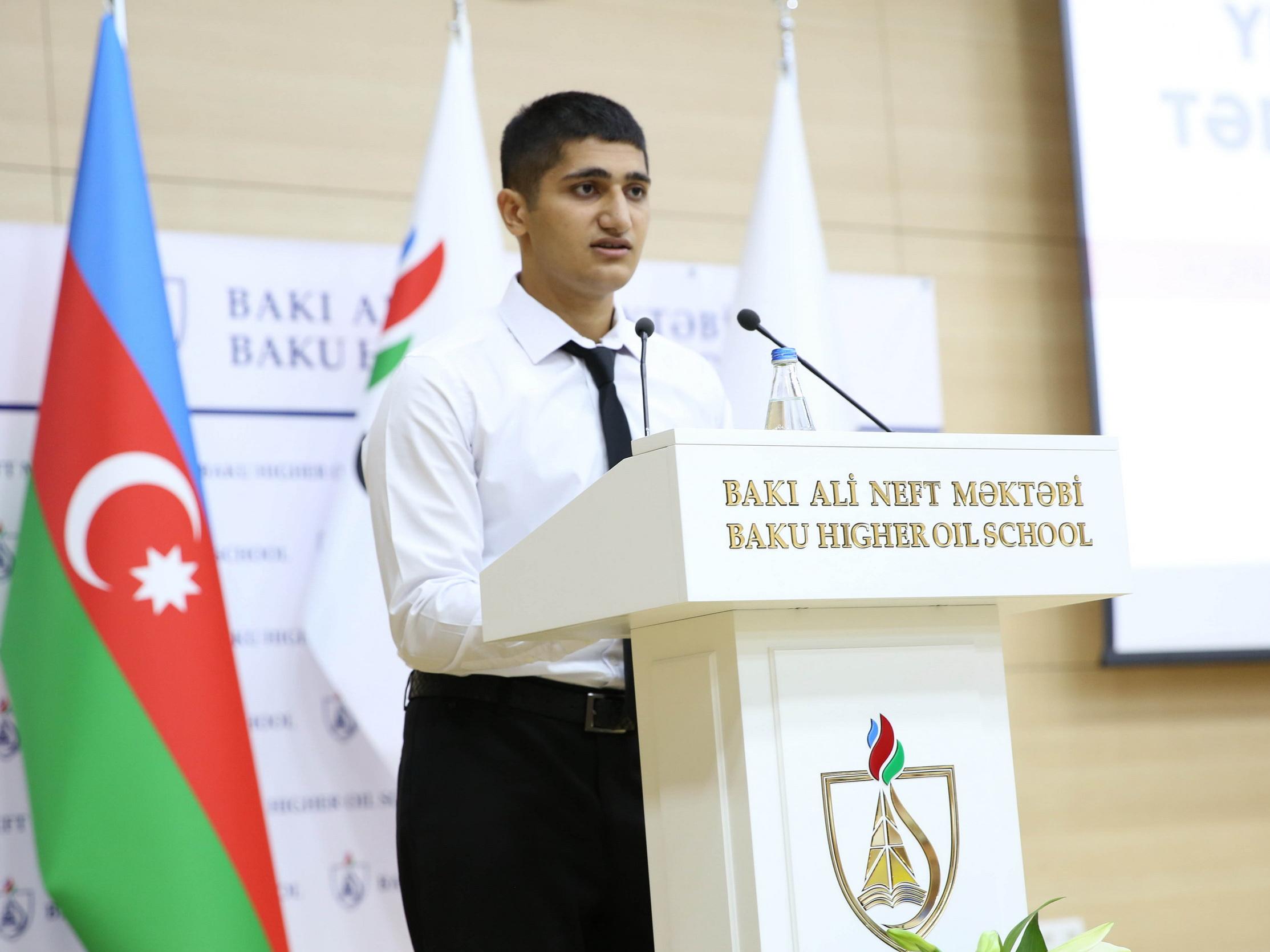 Студент первого курса Вюсал Хазратли: «Учился на врача, но поступил в БВШН и стану инженером»
