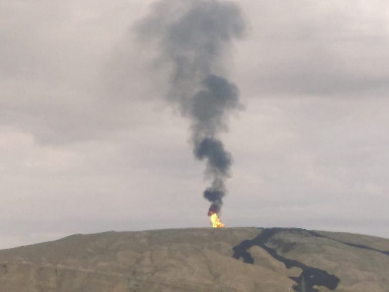 Otman-Bozdağ palçıq vulkanında püskürmə baş verib - FOTO - VIDEO