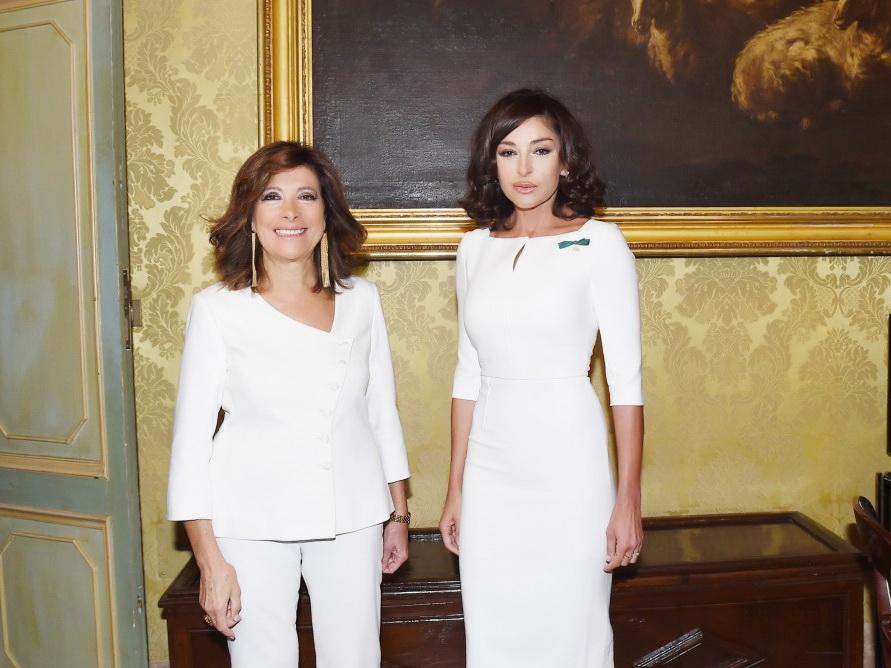 Первый вице-президент Азербайджана Мехрибан Алиева встретилась с председателем Сената Италии - ФОТО