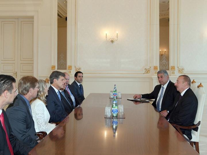 Президент Ильхам Алиев принял делегацию во главе с председателем Специального олимпийского комитета - ФОТО