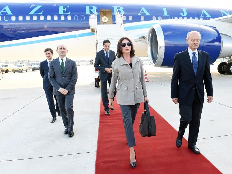Первый вице-президент Aзербайджана Мехрибан Алиева прибыла с официальным визитом в Италию - ФОТО