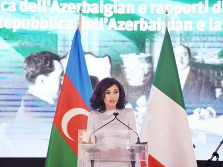 Официальный визит в Италию Первого вице-президента Мехрибан Алиевой широко освещен в СМИ этой страны - ФОТО